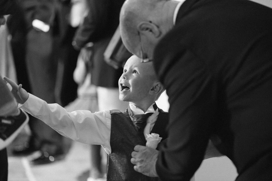 The Pageboy getting a warm welcome at Ordsall Hall Wedding Venue
