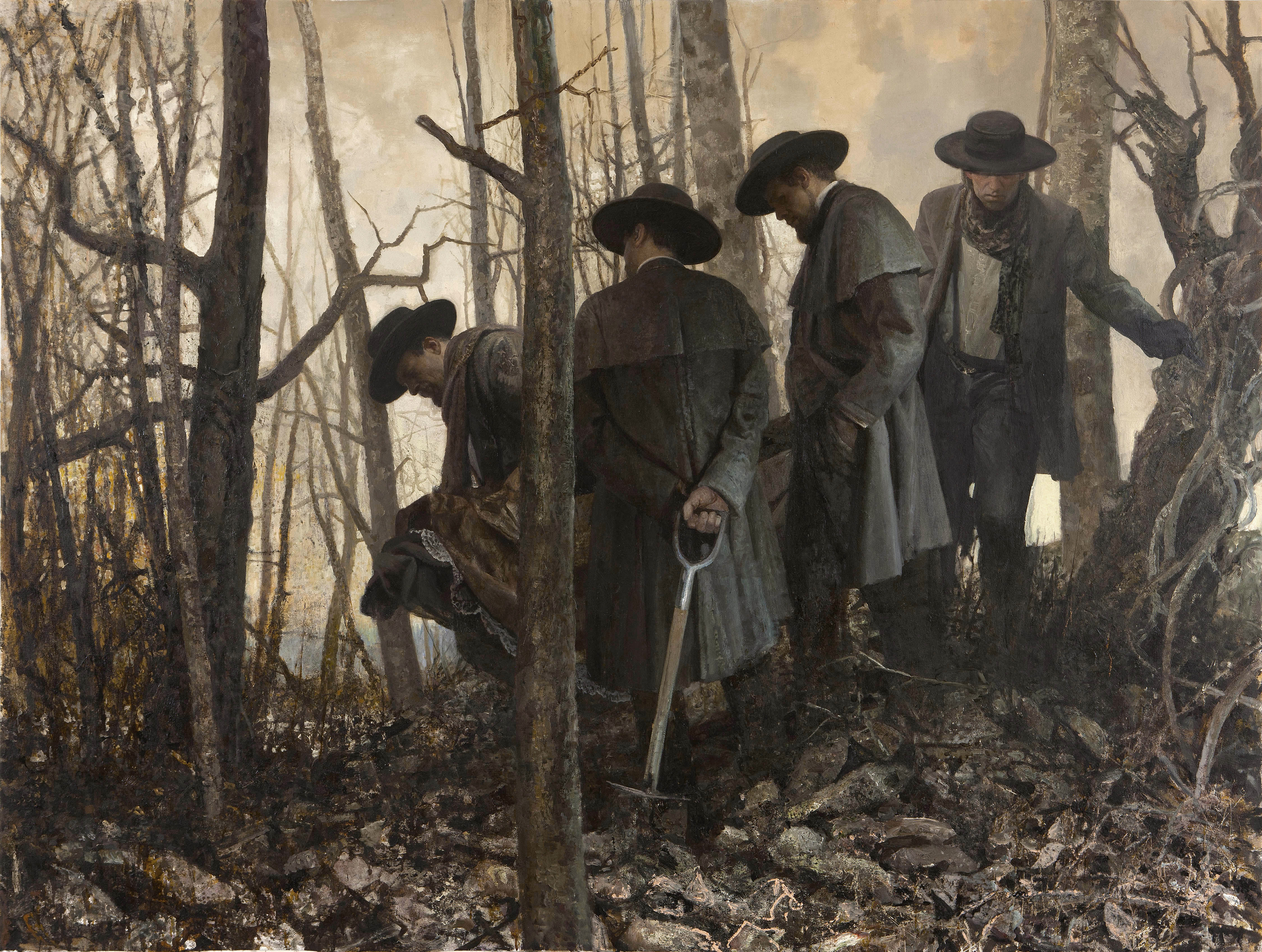 A painting by Vincent Desiderio called Mourning and Fecundity
