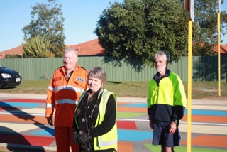 L-R Phil Rance SES, Helen Truscott - City of Mandurah, Rob Thomas - City of Mandurah