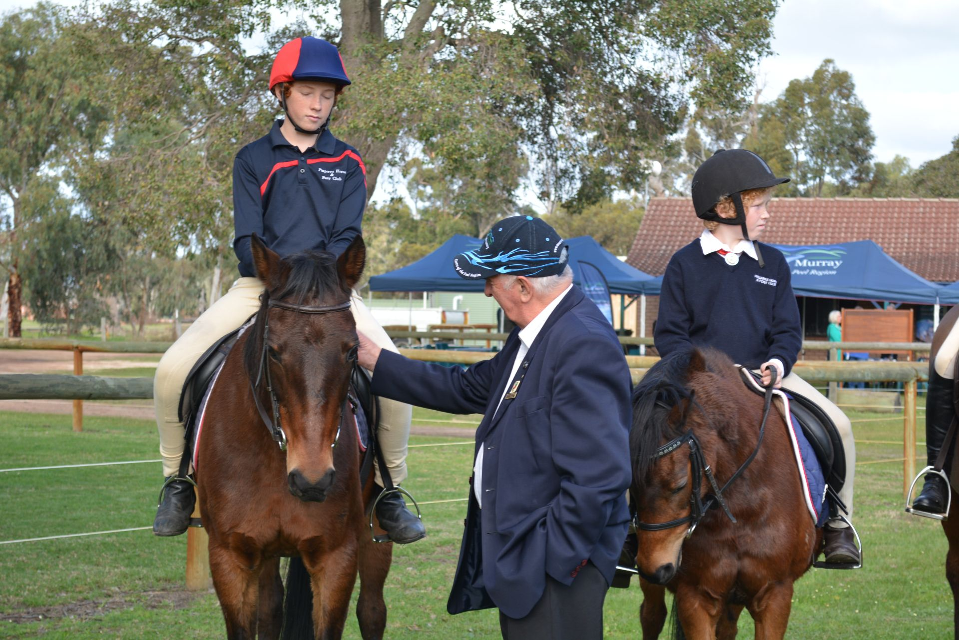 Shire President Cr. Barrett with horse riders(1) copy.jpg
