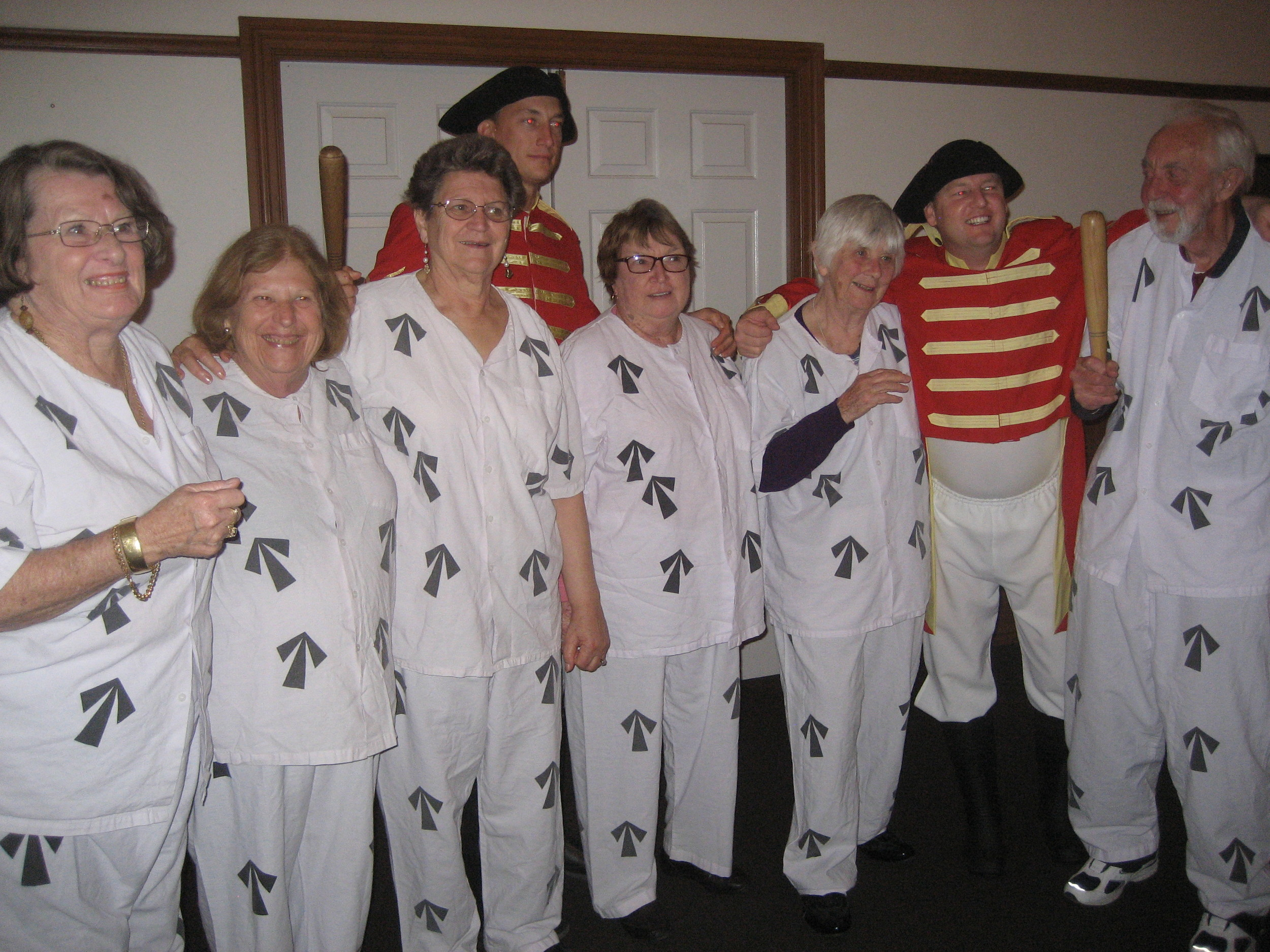 Local U3A members dressed as convicts at the historic penal settlement on a recent learning trip to Norfolk Island.