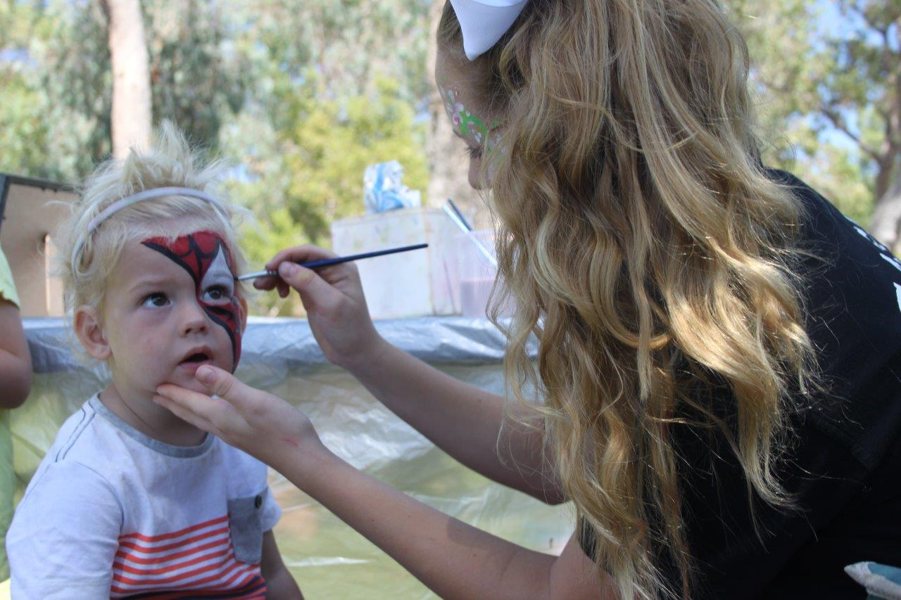 Children enjoyed having their faces painted