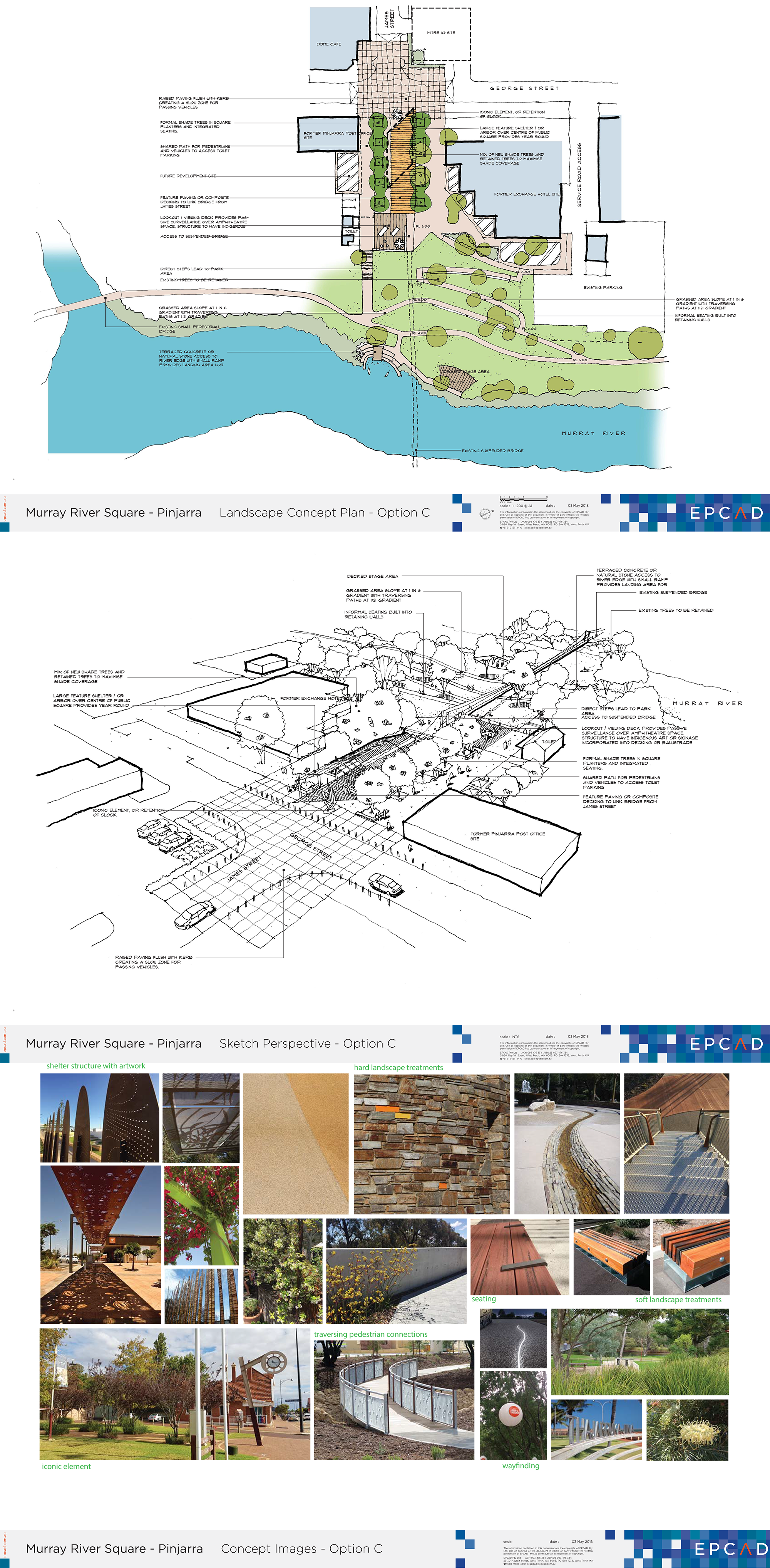 Murray River Site plan - perspective and images - Option C