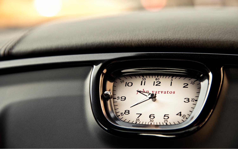 2013 Chrysler 300 John Varvatos Special Edition clock design