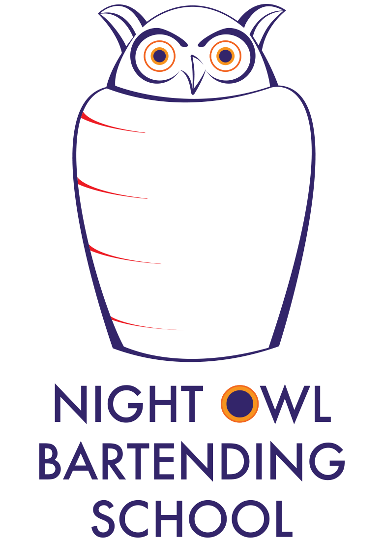 Night Owl Bartending School logo proposal