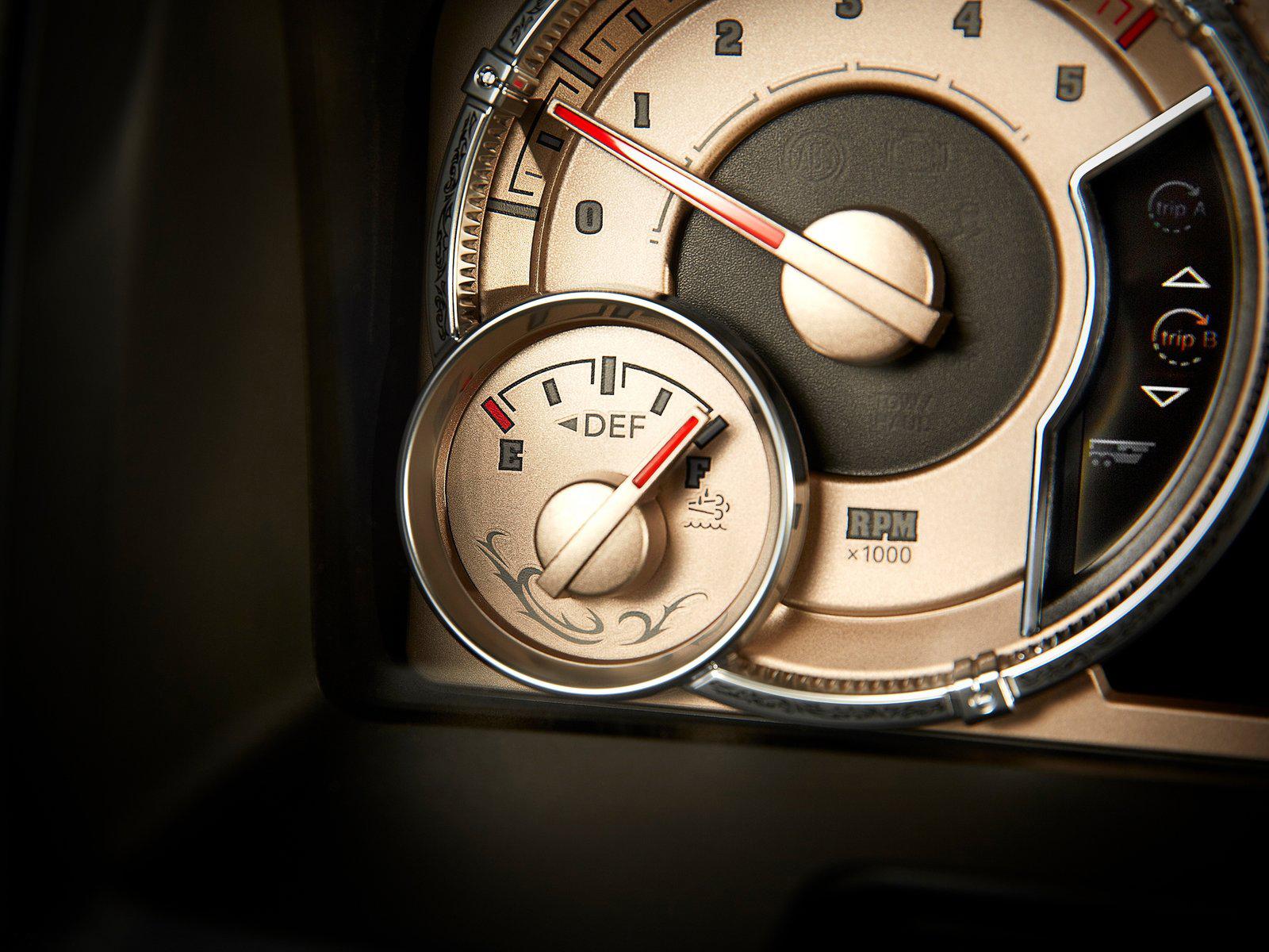2012 Ram Longhorn gauge design
