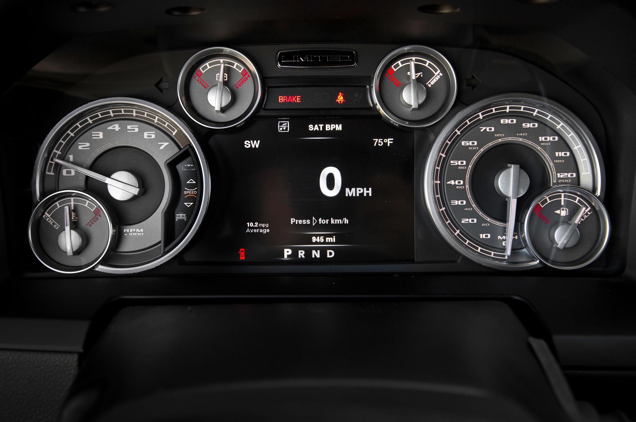 2013 Ram Limited gauges