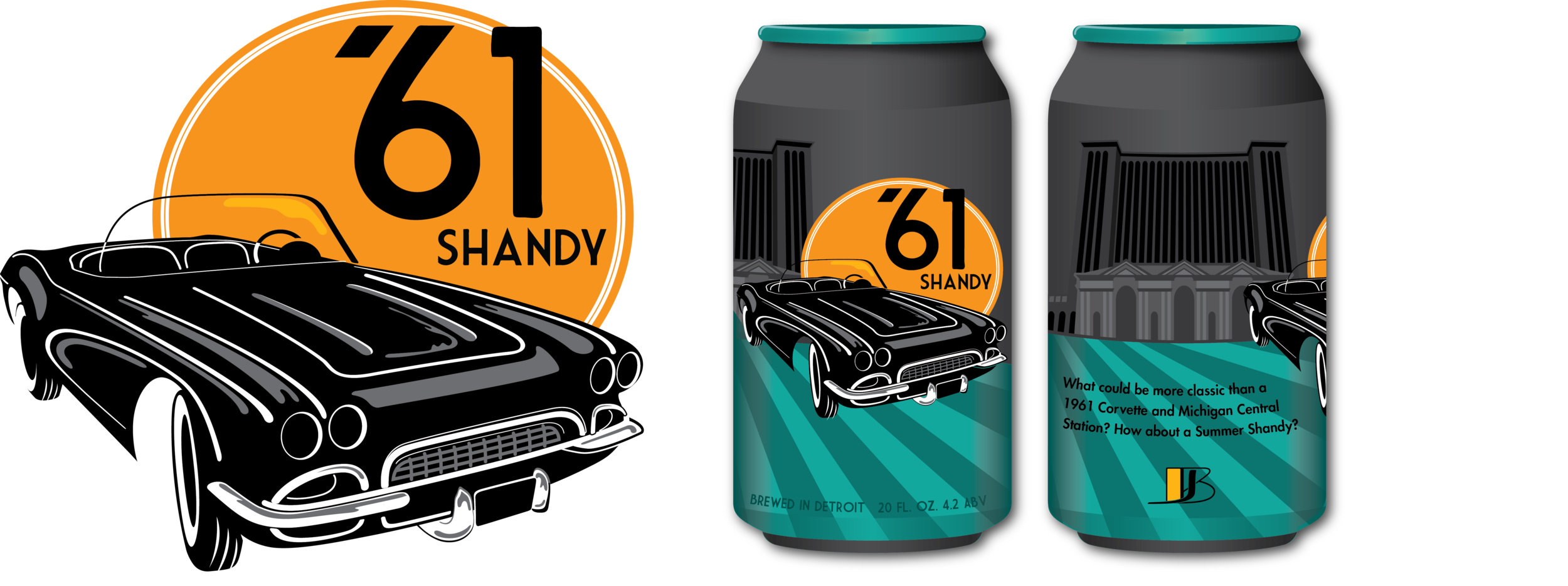 What could be more classic than a 1961 Corvette and Michigan Central Station? Don't let the Michigan summer heat get you down. Cool off with a '61 Shandy. - In progress
