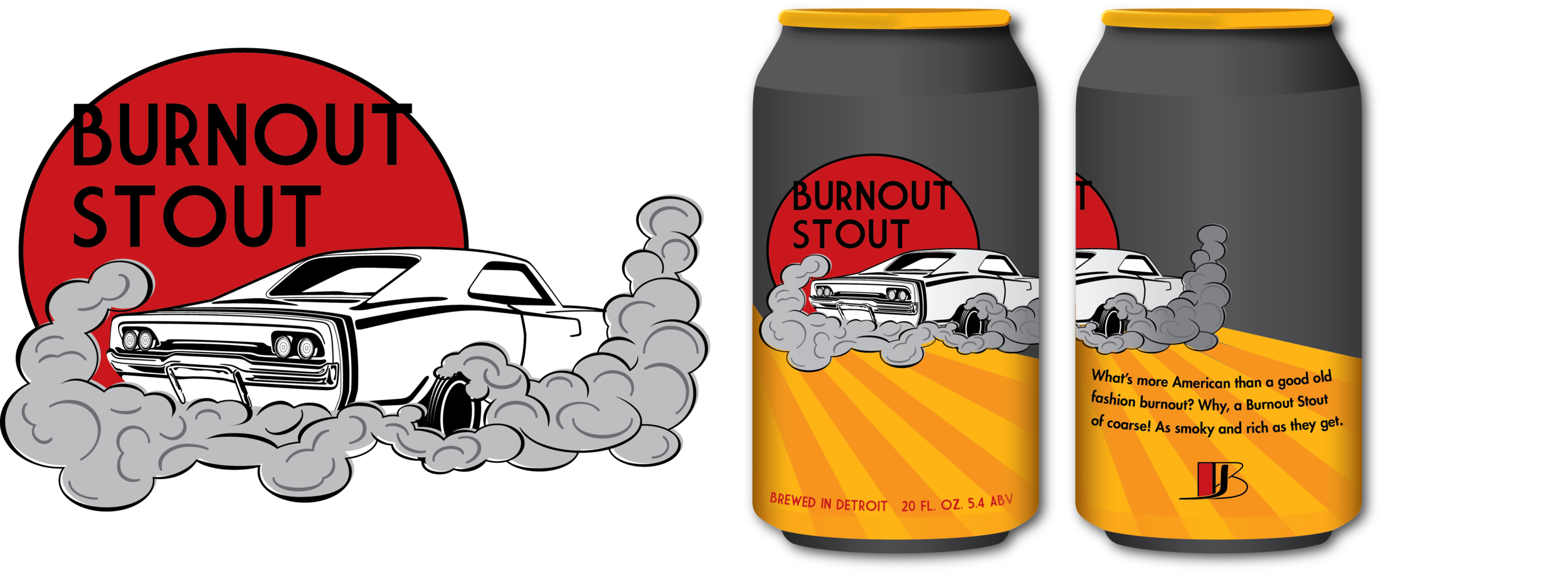 What's more American than a good old fashioned burnout? Why, a Burnout Stout, of course! This stout beer is full of smoky, rich flavors.- In progress