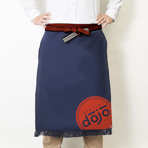 Student aprons - following traditional martial arts uniform - starting as a white belt and progressing all the way to a black belt when you are considered a master