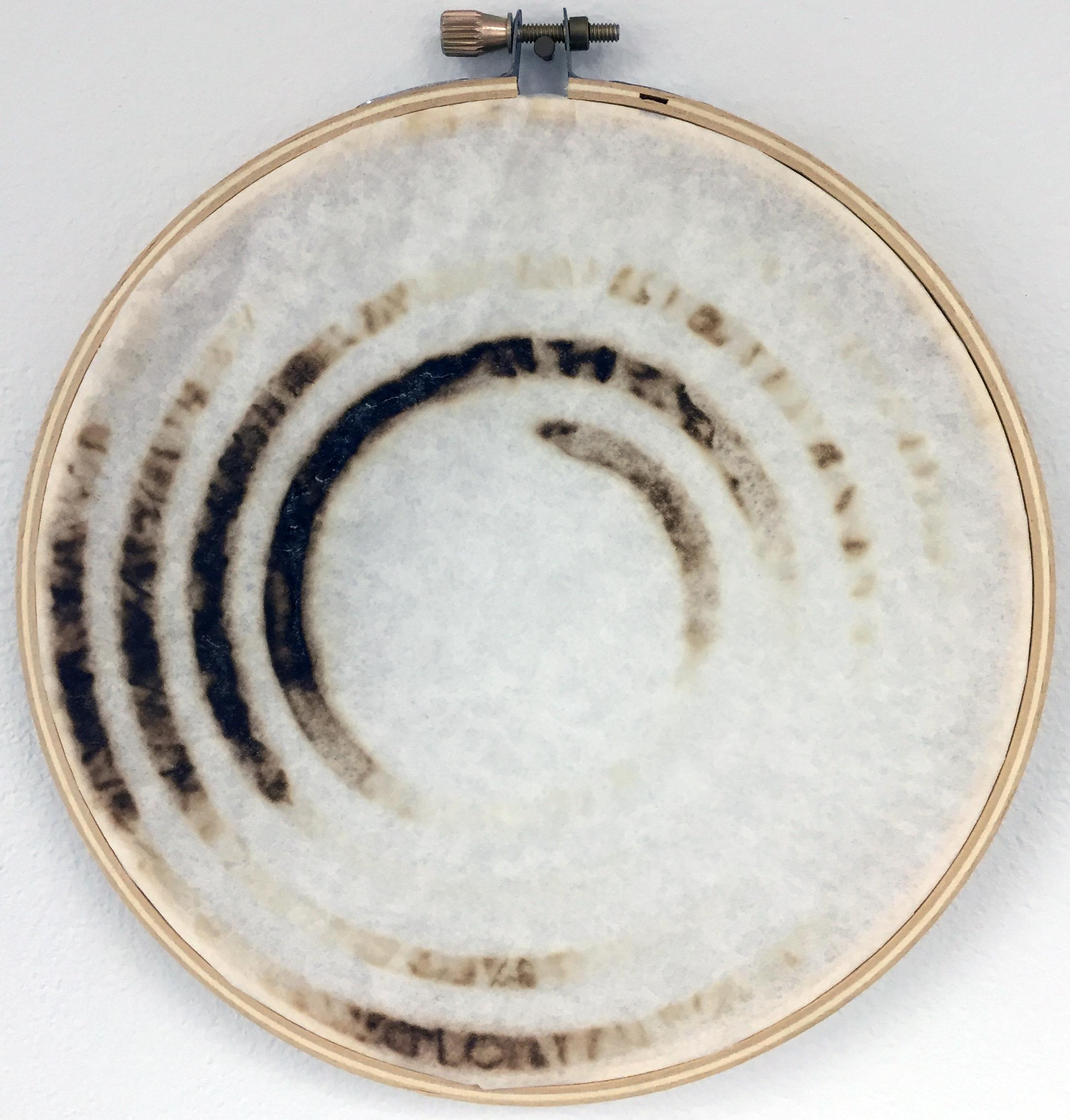 Scorched paper 6in. diameter