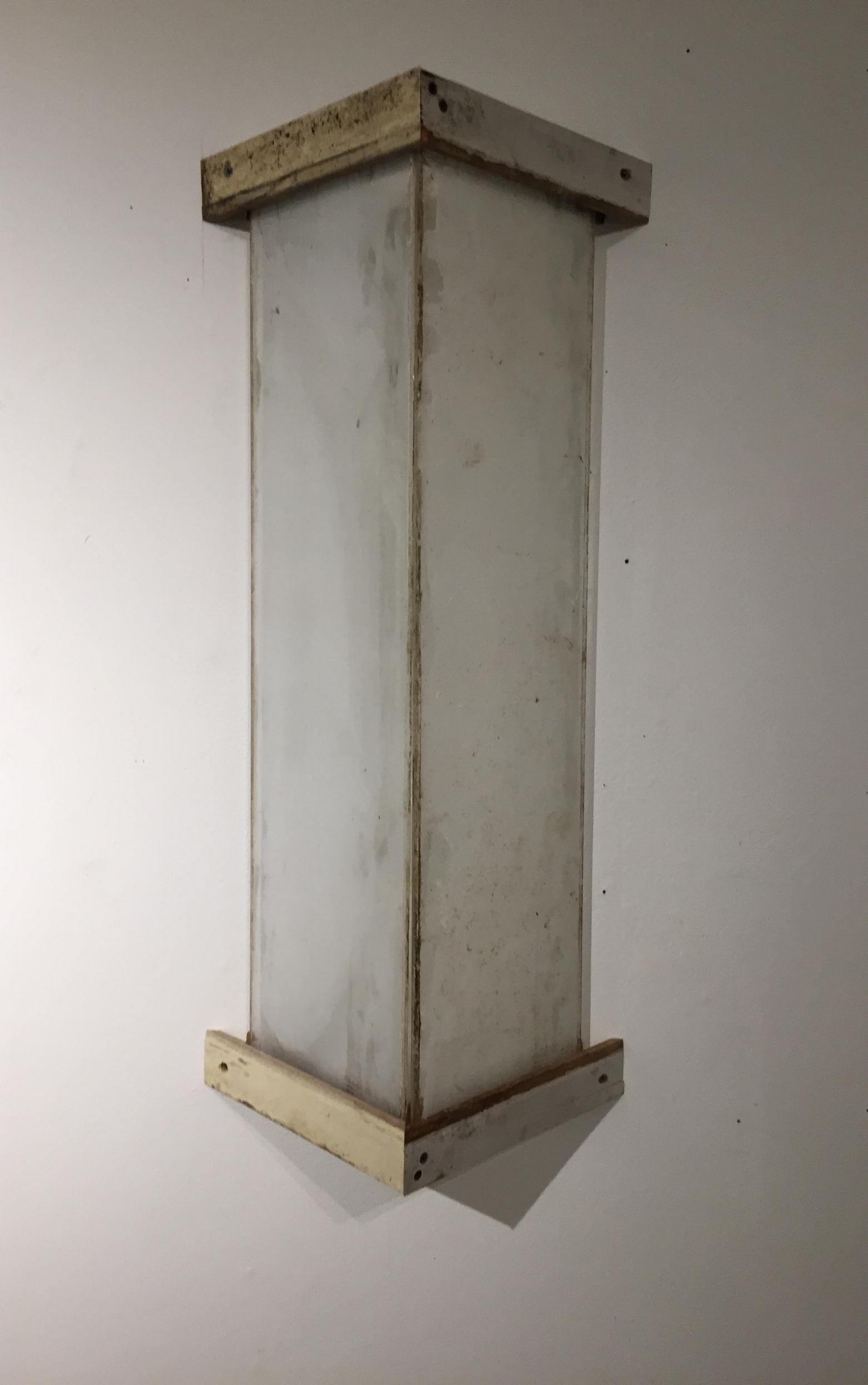 Window pane with serigraph, wood