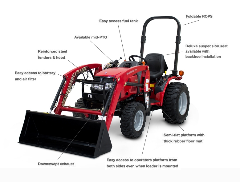 Packed with features, the Max Series tractors have everything you need to get the job done! Add some implements, and you'll be an unstoppable, todo-list wrecking machine!