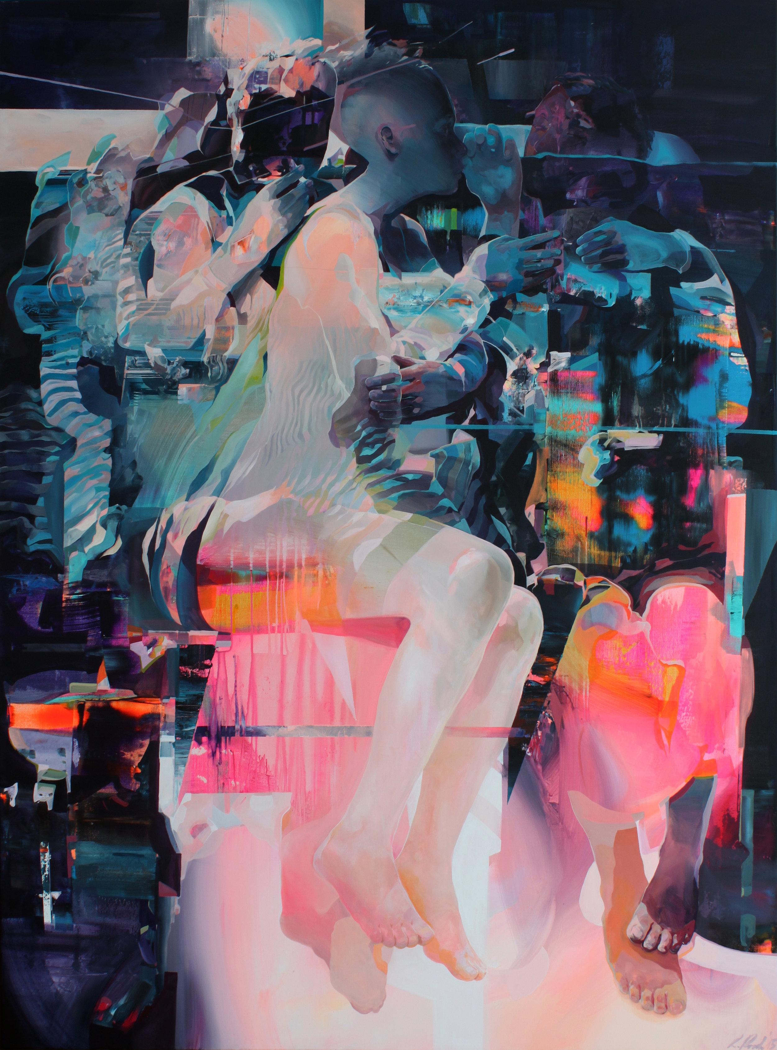 're-dawn II' 200x150cm; acrylic on canvas; 2015.jpg
