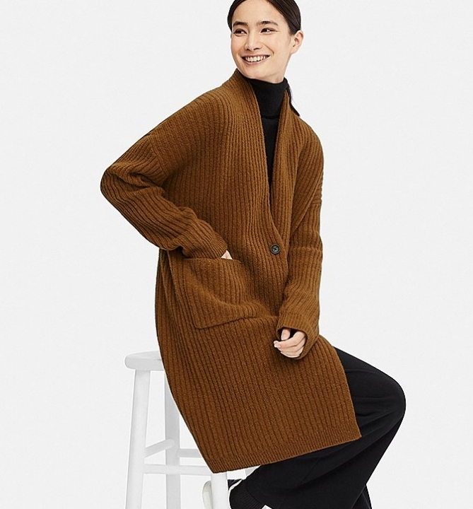 uniqlo ribbed knitted coat.jpg
