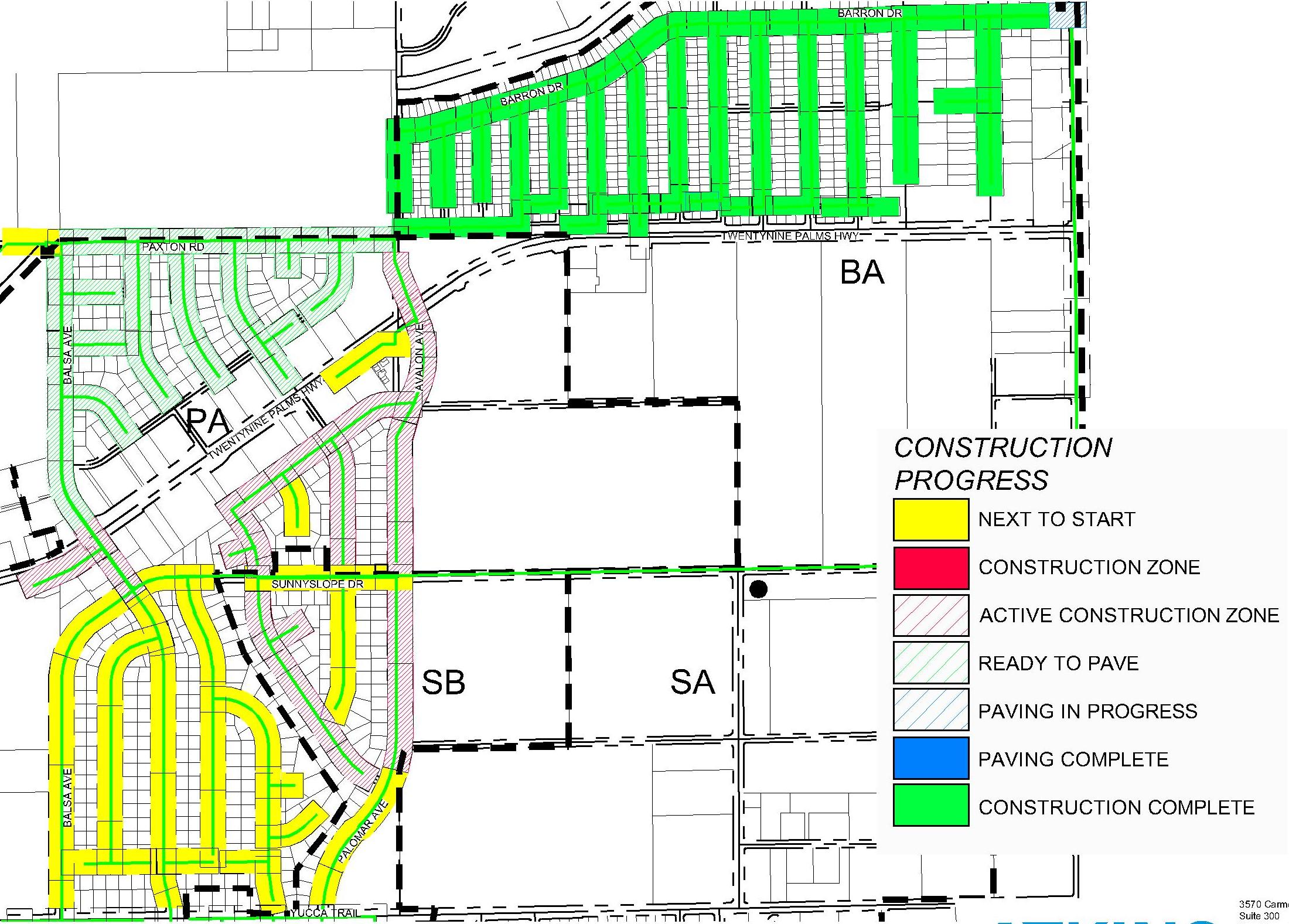 Click here  to view latest construction map