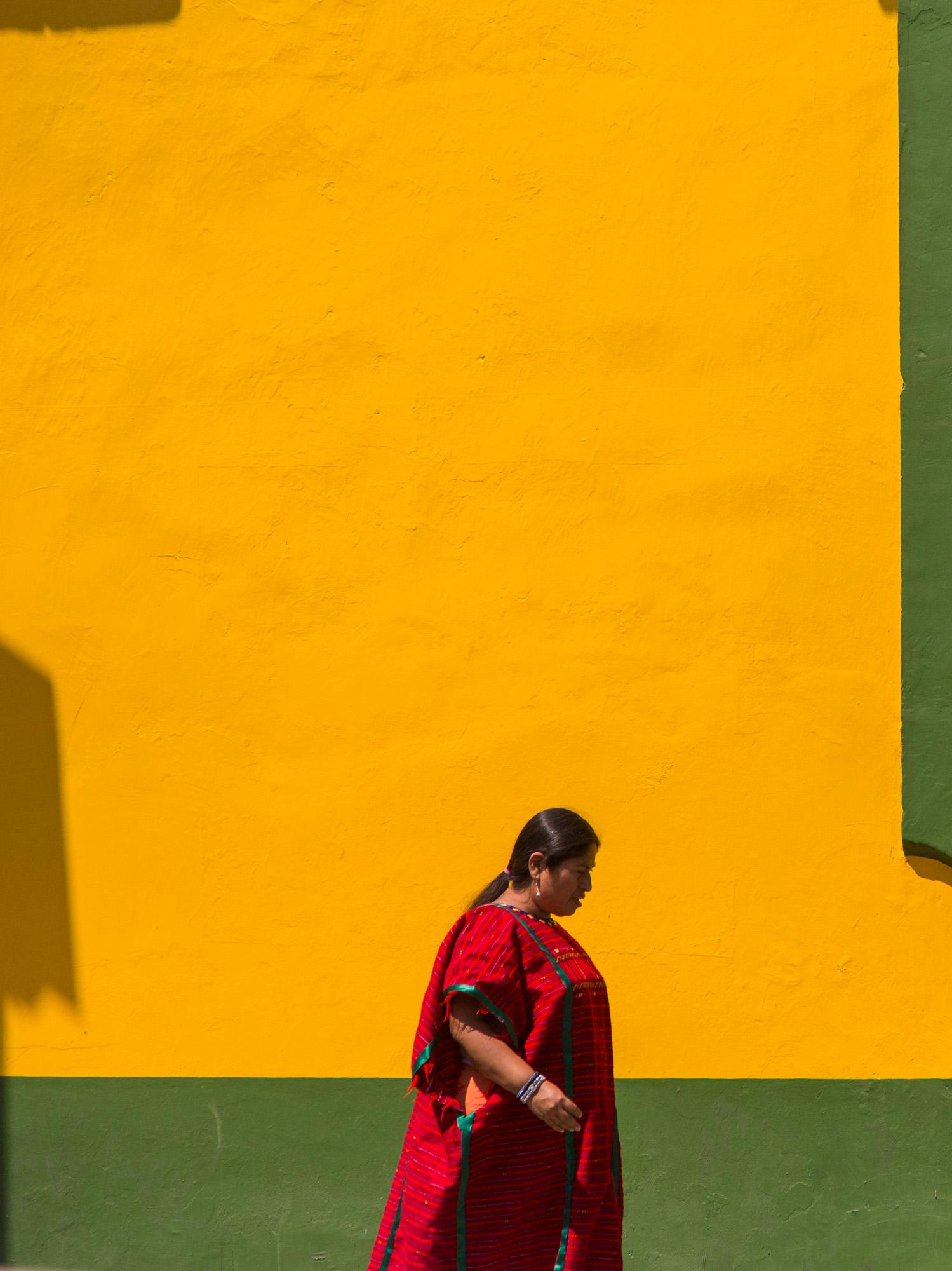Woman in traditional dress, Oaxaca, Mexico