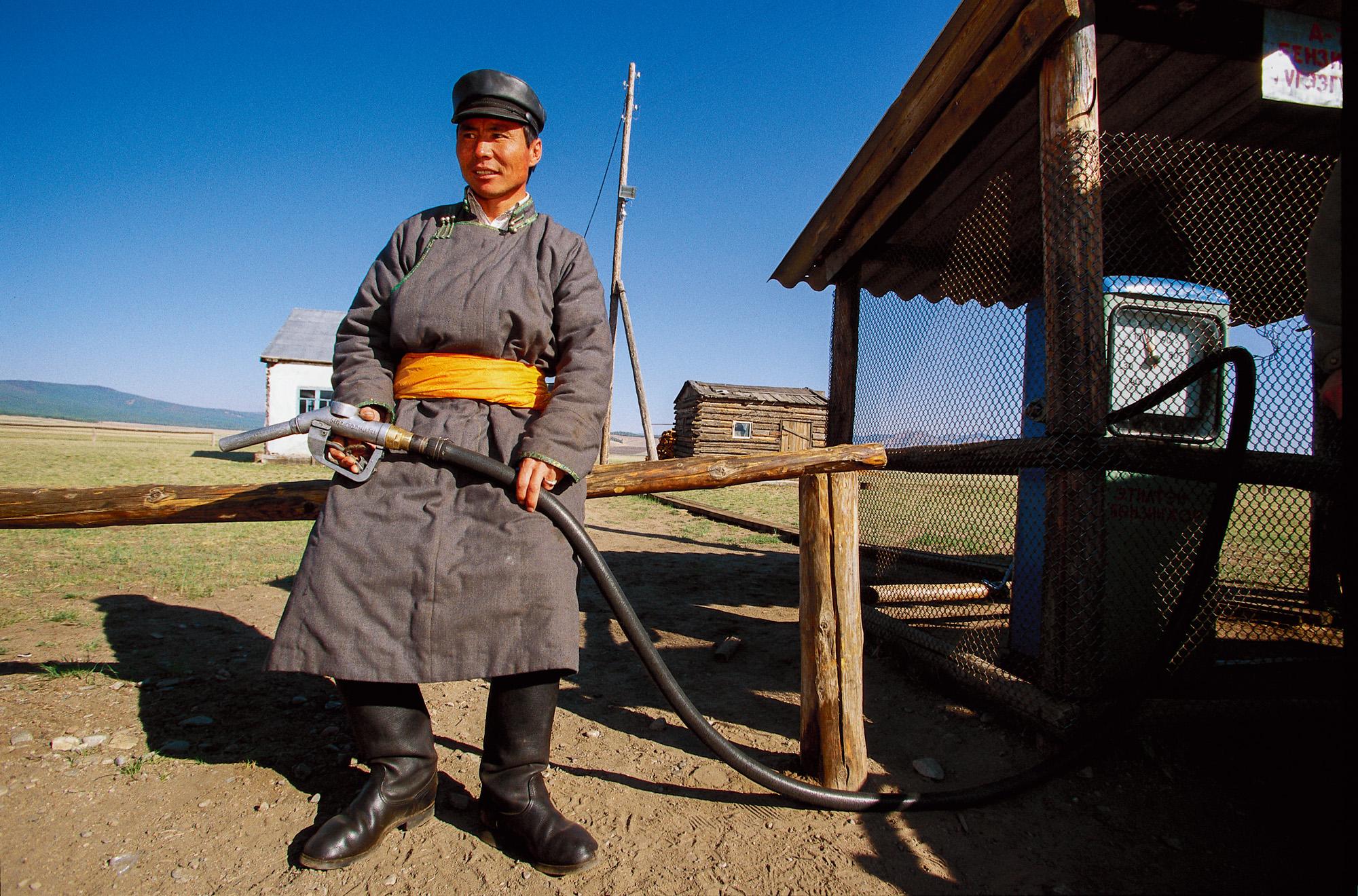 Gas station, Hovsgol, Mongolia