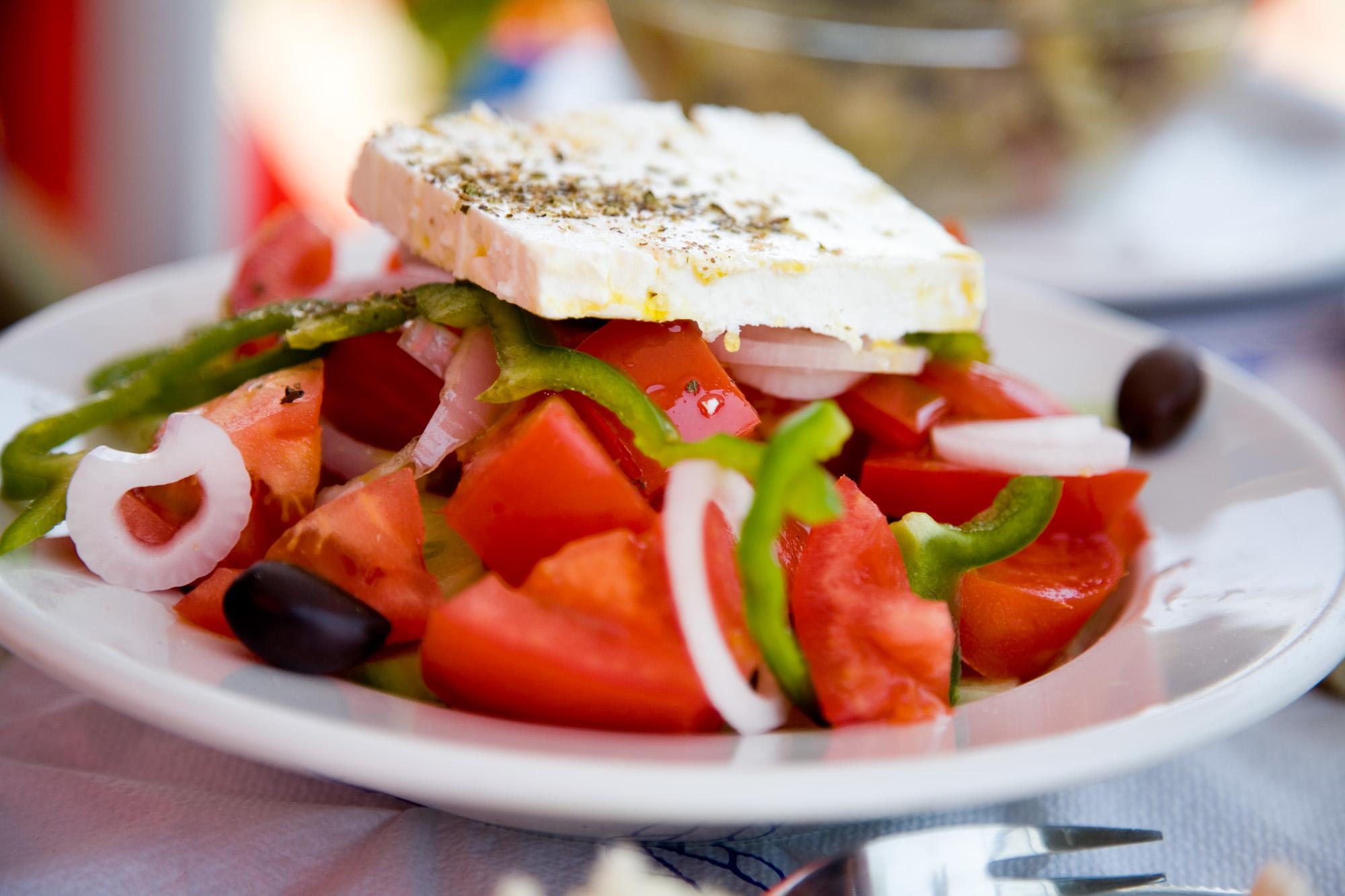 Greek Salad, Koufinissi, The Cyclades, Greece