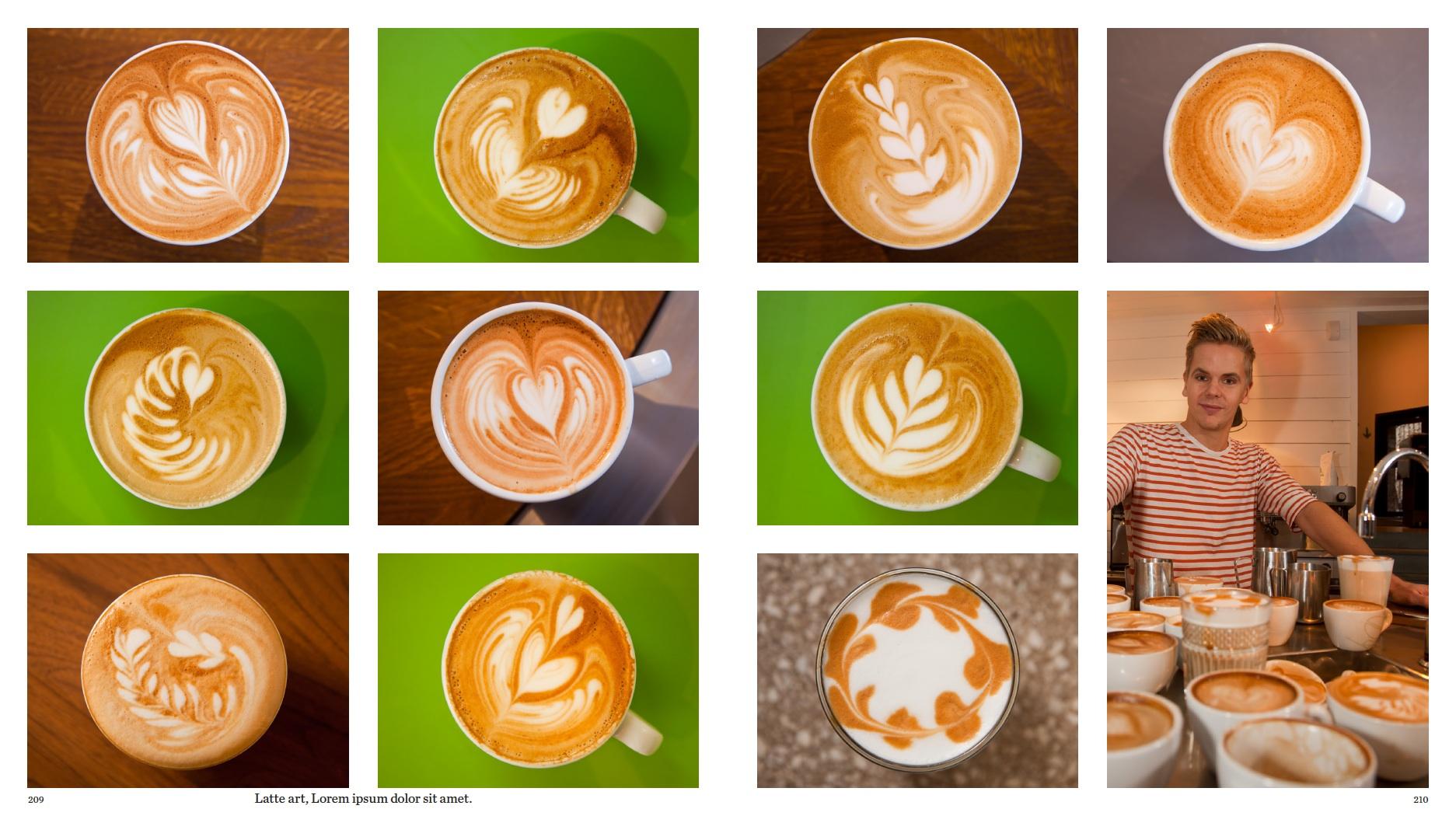 Latte Art, Johan & Nyström, Stockholm, Sweden
