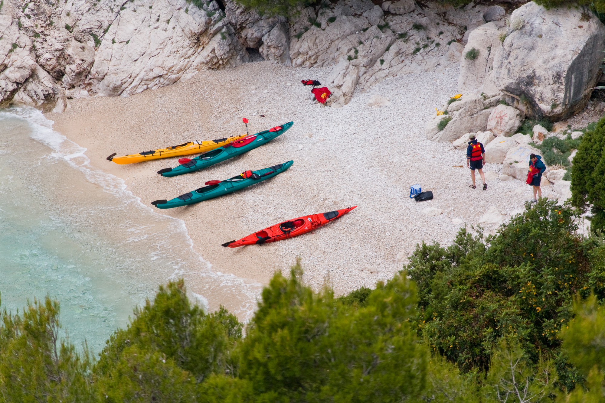 Kayaking at Hvis, Croatia