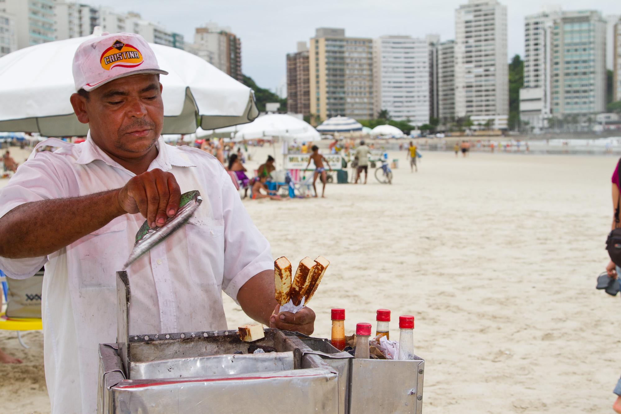 B-B-Q cheese vendor, Brazil