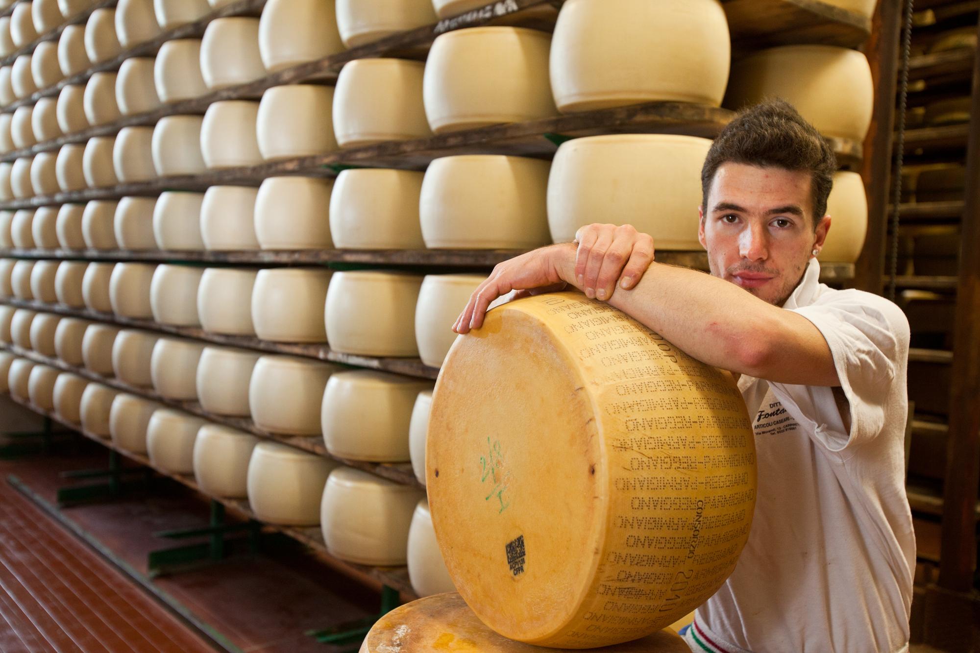 Parmesan cheese producer, Reggio, Italy