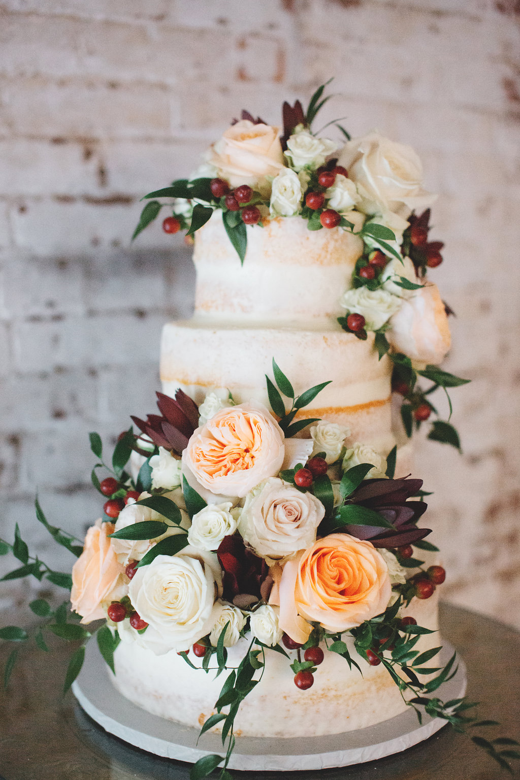 Scraped Cake with Floral Bunches.JPG