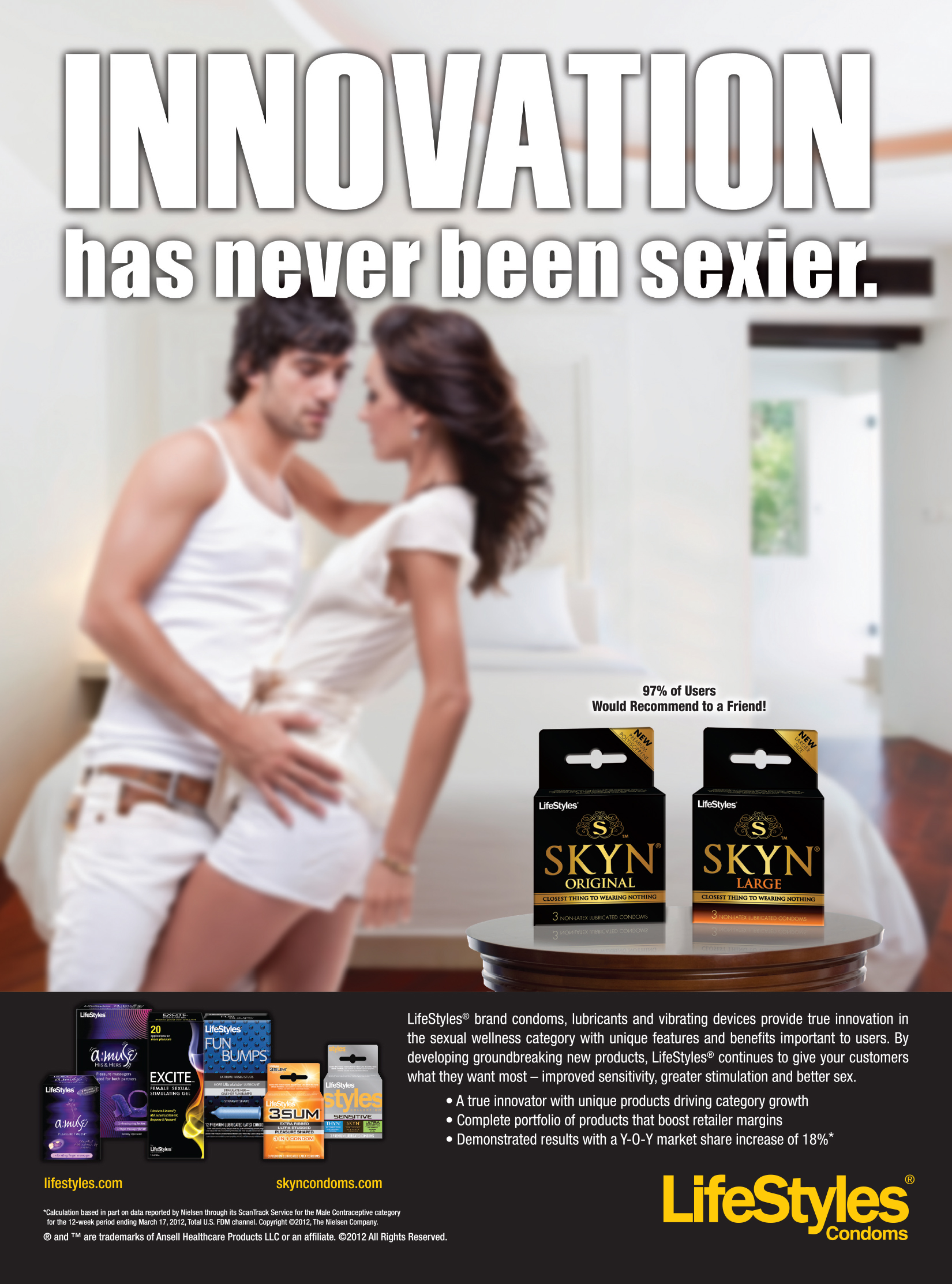 Condom manufacturer, print ad