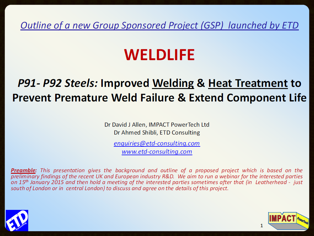Click to read WELDLIFE Project Outline