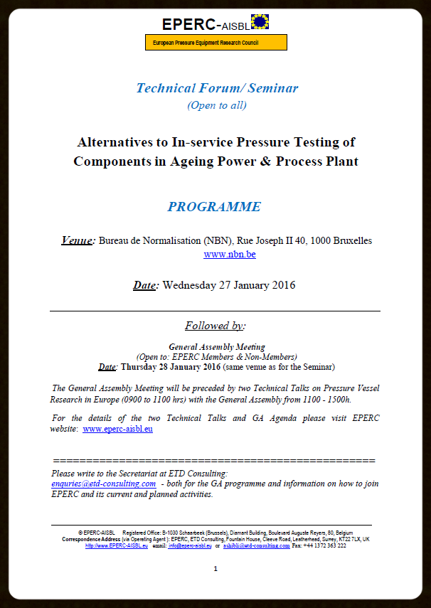 EPERC Seminar 27 Jan 16