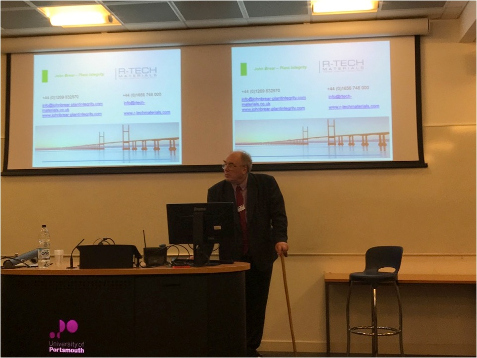 "Mr. John Brear of ""John Brear – Plant Integrity"" presenting his paper"