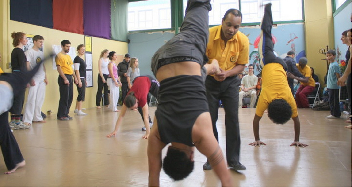 THE WORLD DANCE PROJECT    Capoeira from Brazil with Mestre Silvinho February2015