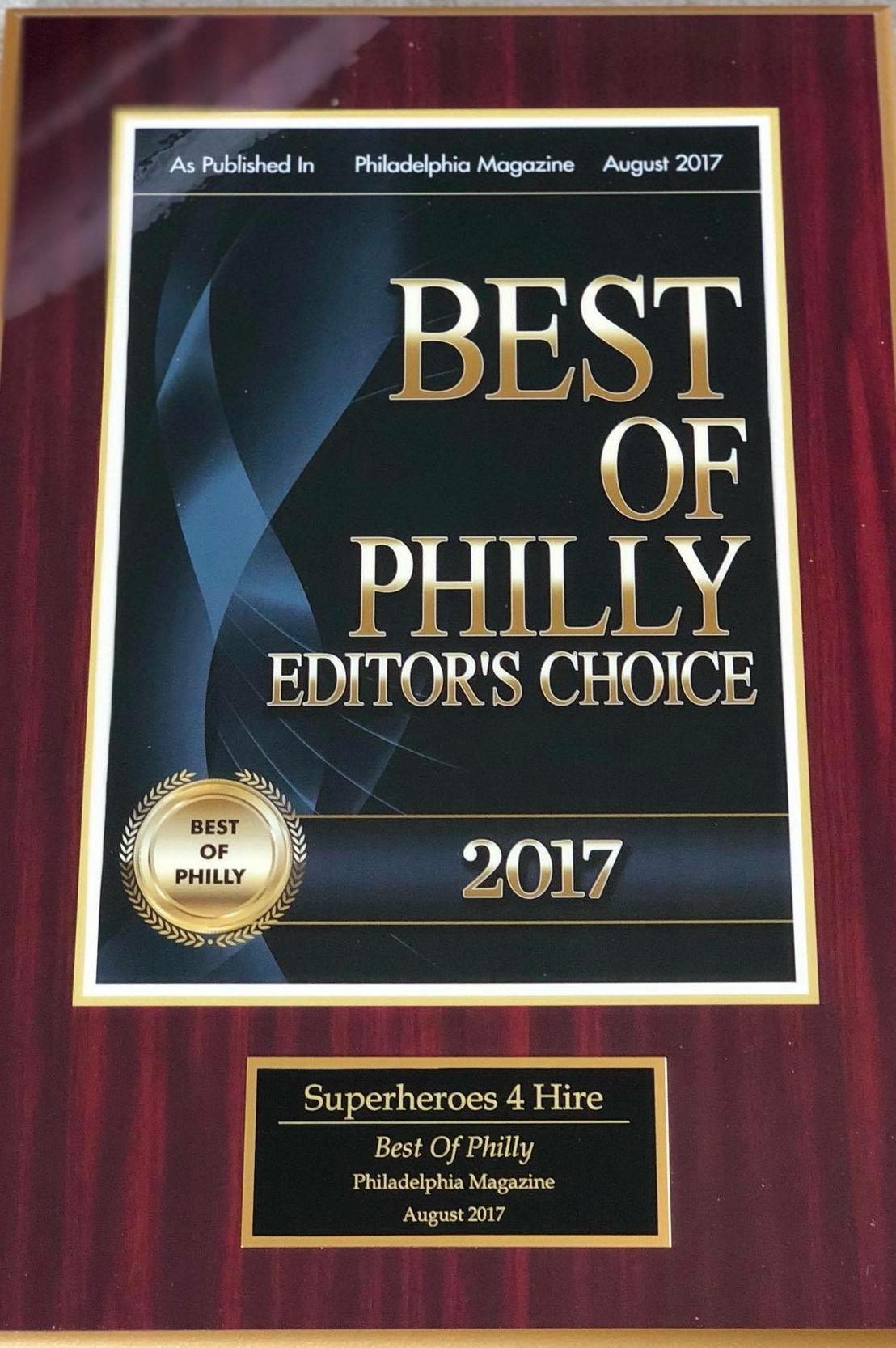 Big Thanks to the city of Philadelphia and Philadelphia Magazine! -