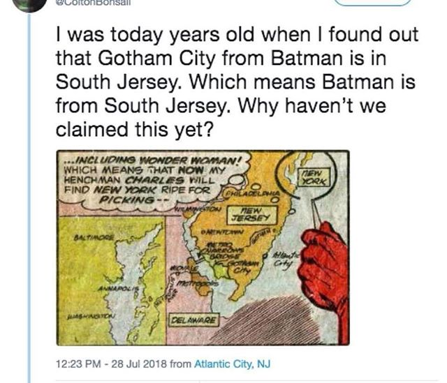 Certainly not a coincidence. #batman lives in #southjersey