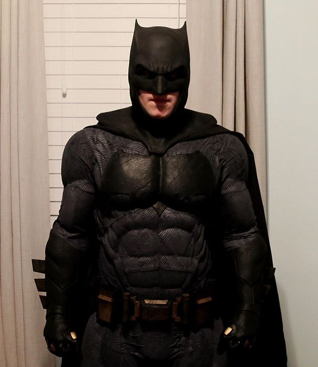 I am vengeance. I am the night. I am #batman • New suit test fitting.