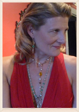 Sara Jane Abbot with . . . looking gorgeous with . . . necklace and so an so accesorries. .