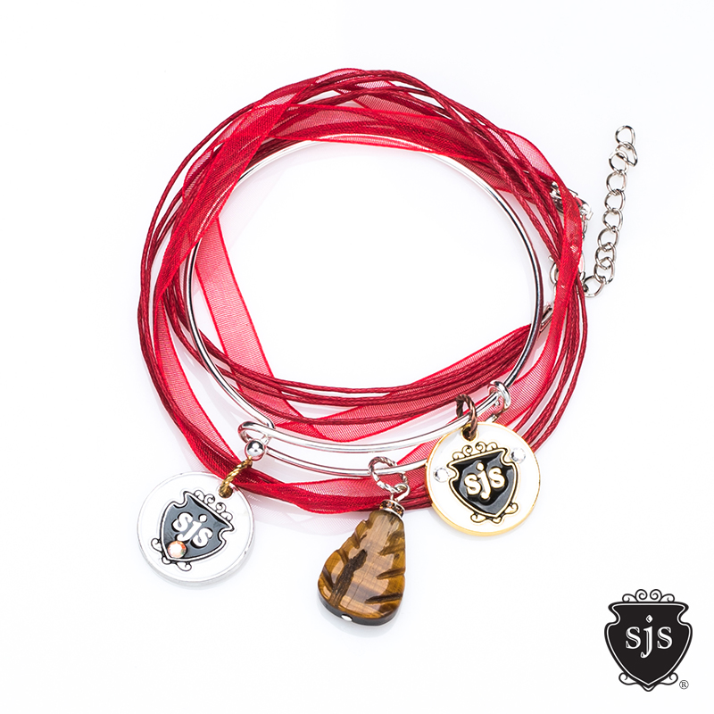 Red coco single cording with bangle.jpg