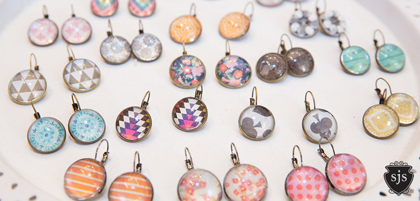 Underglass CAB Sparkle Earring collection