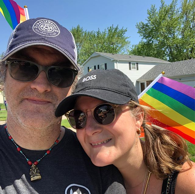 Buffalo Grove's first 🏳️‍🌈 PRIDE PARADE #lovewins sparkle family #pridelove #pride #lgbt #pridemonth #gay #lesbian #lgbtq #bisexual #rainbow #transgender #love