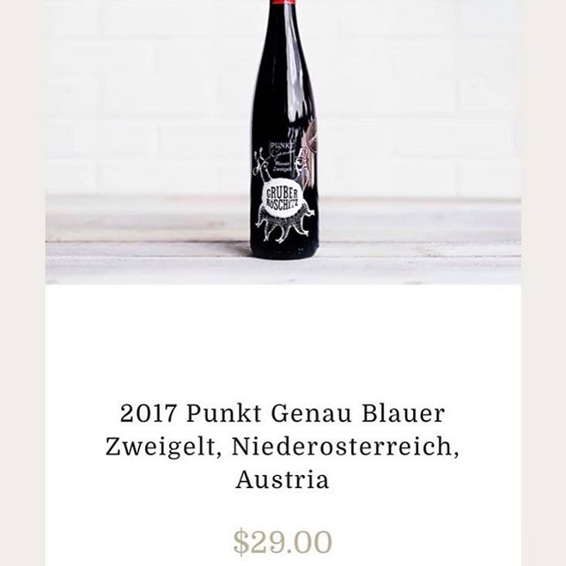 This is such a surprising delight. It's better than a #pinotnior. More interest. Xoxo. It's Austrian so it's an import and at 15% off during staycation vacation. Perfect time to try it. Remember 6 bottle and 12 bottle value discount count too. Xoxo 🥂