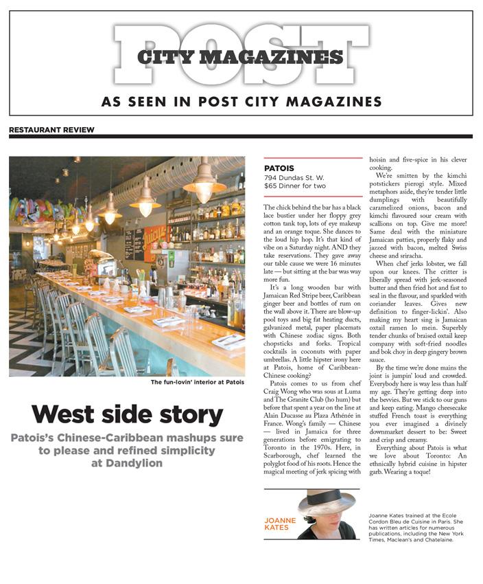PostCityMagazine-Patois-Joanne-Kates-Review.jpg