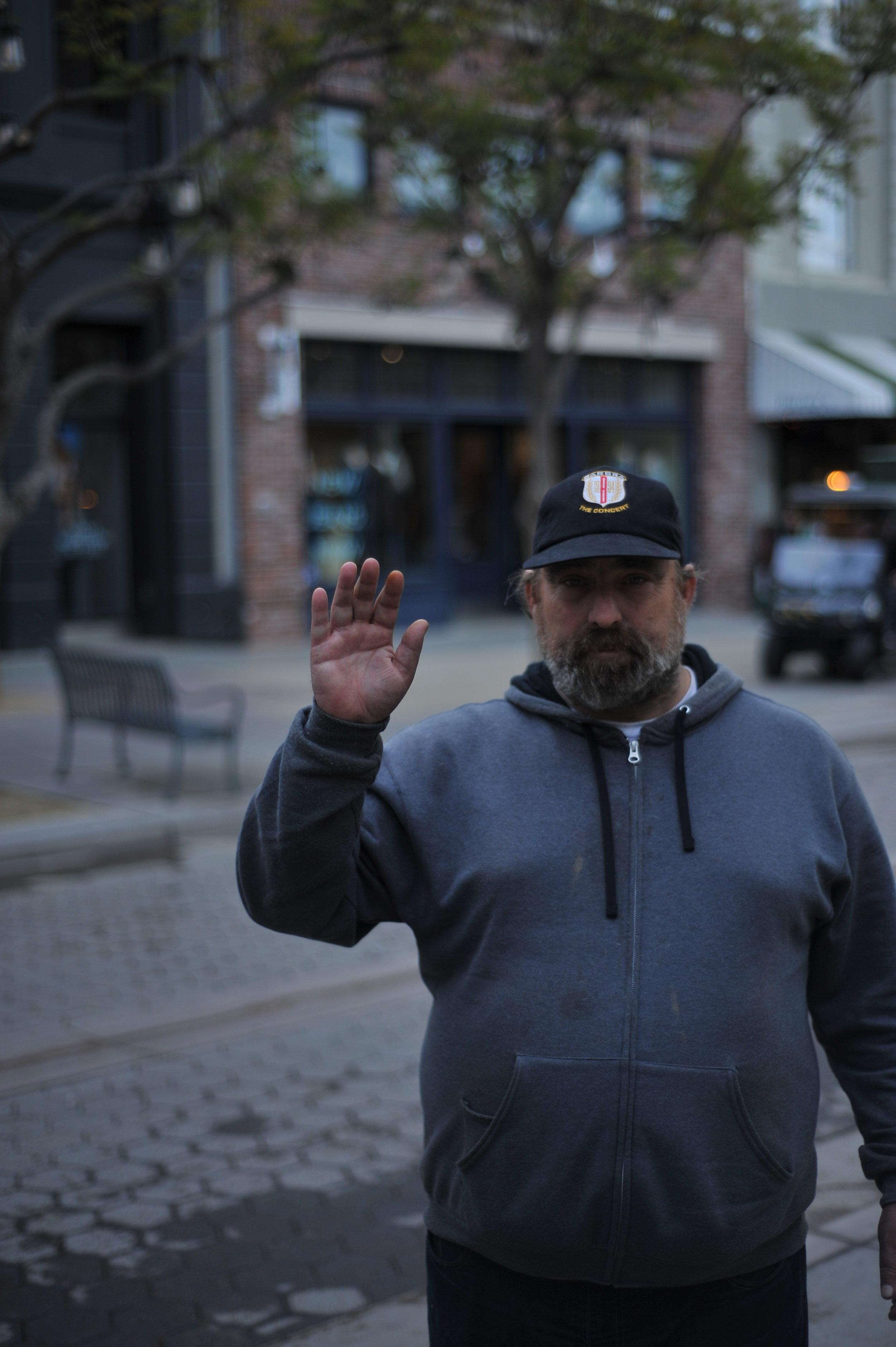 Michael - a homeless man I met on the street of Promenade.