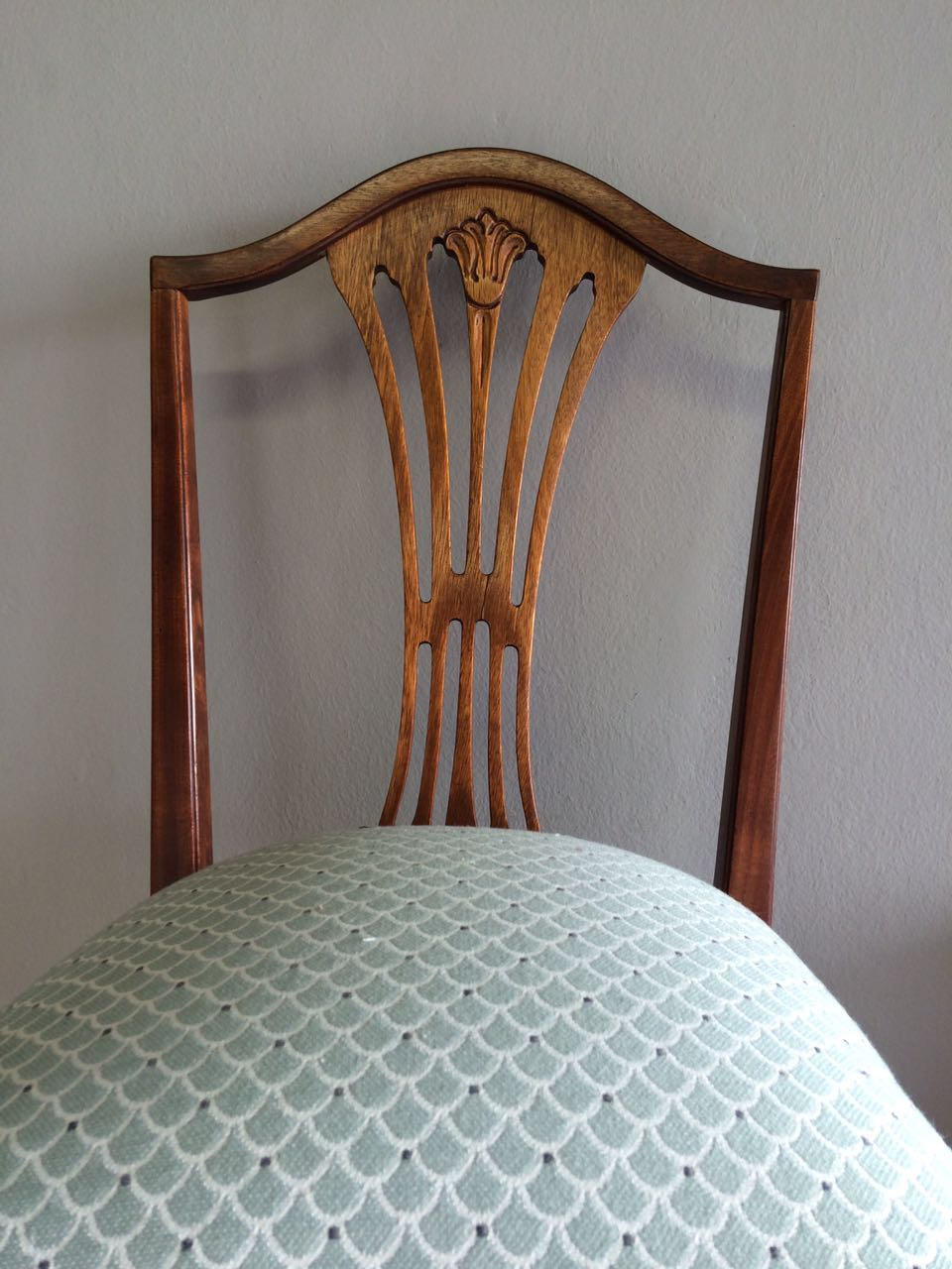 Re-upholstered Dining room chairs