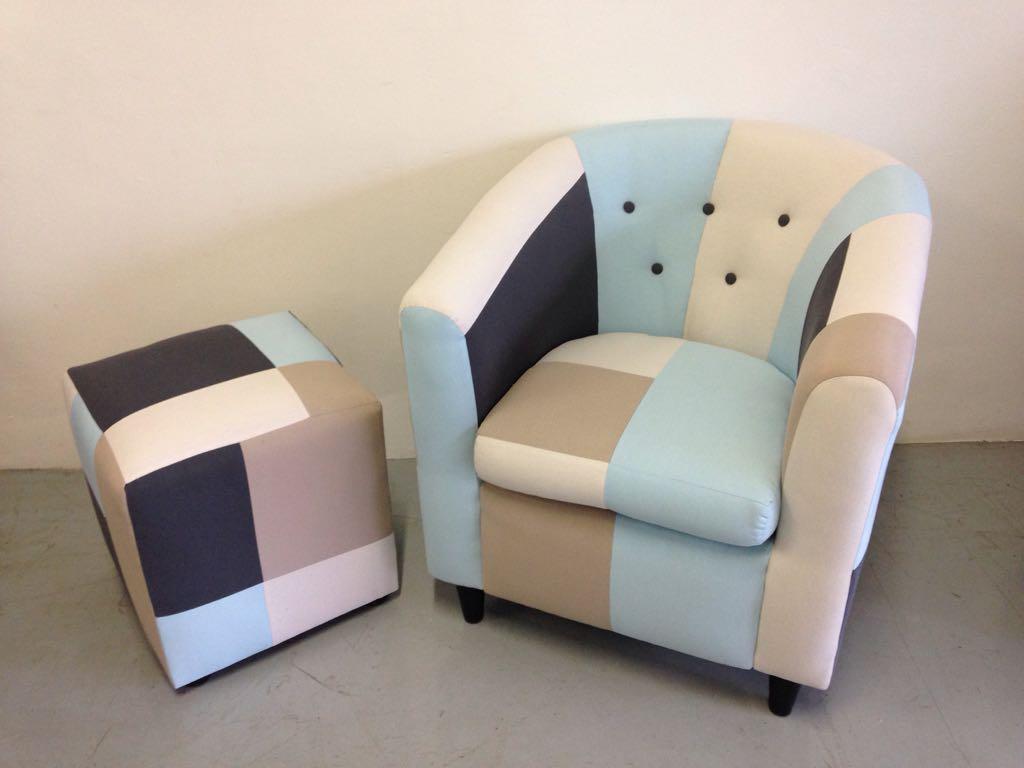 Tub Chair & Ottoman