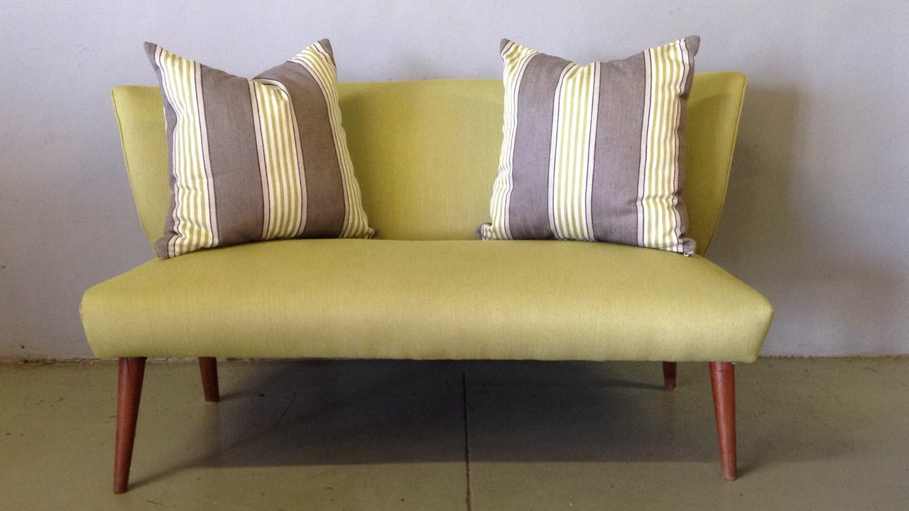 Couch with scatter cushions
