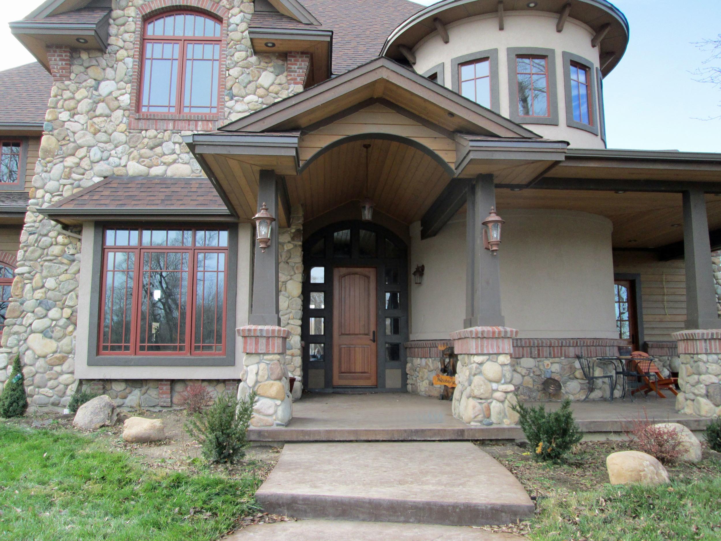 New custom home with custom masonry