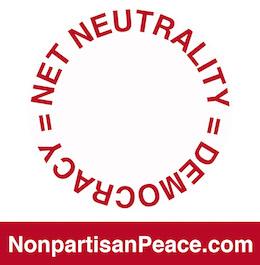 Net Neutrality = Democracy @Nonpartisan Peace dotcom red.jpg