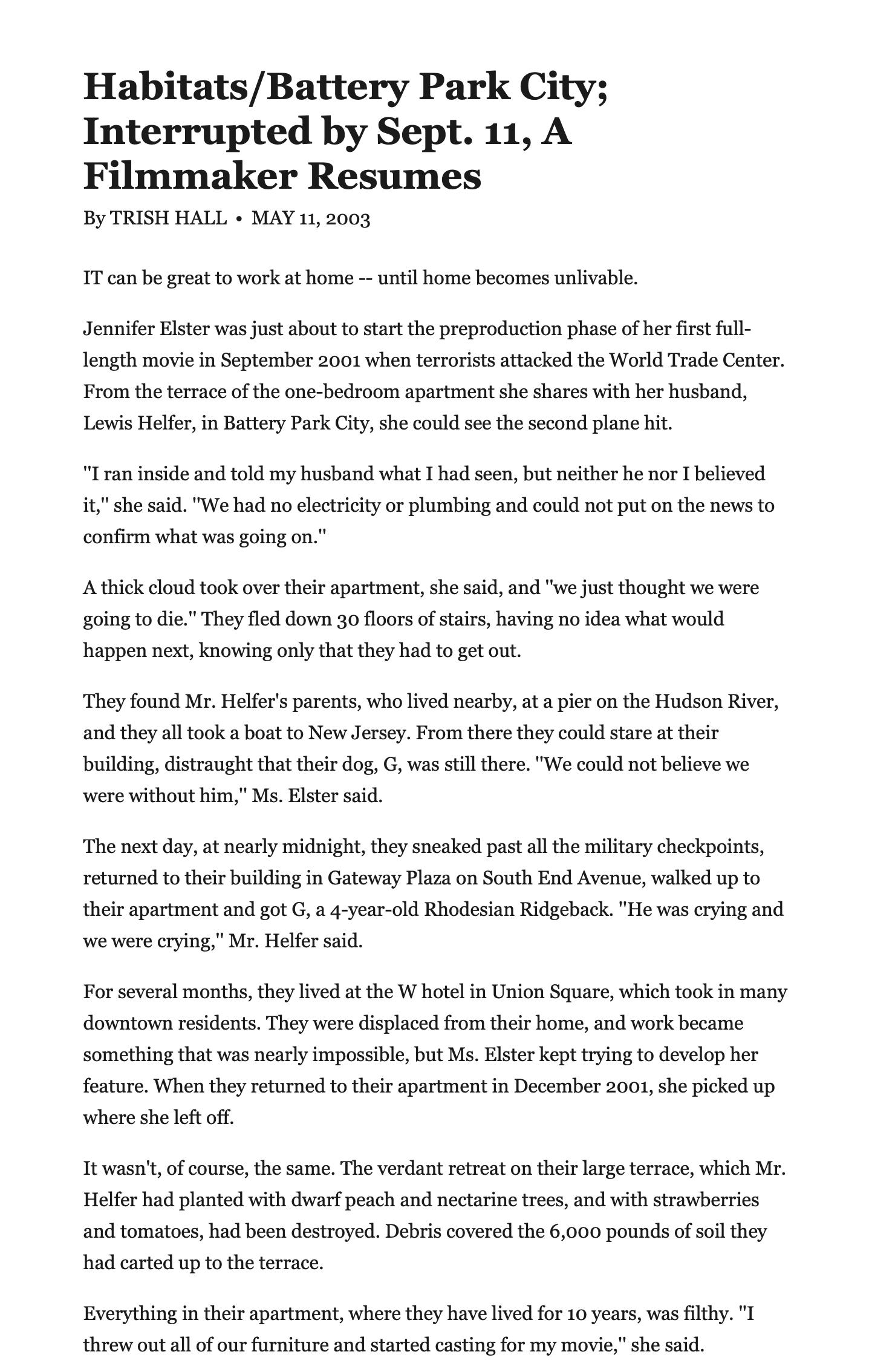 New-York-Times-Press-Jennifer-Elster-Habitats:Battery-Park-City-Interrupted-by-Sept.11-A-Filmmaker-Resumes_1.png