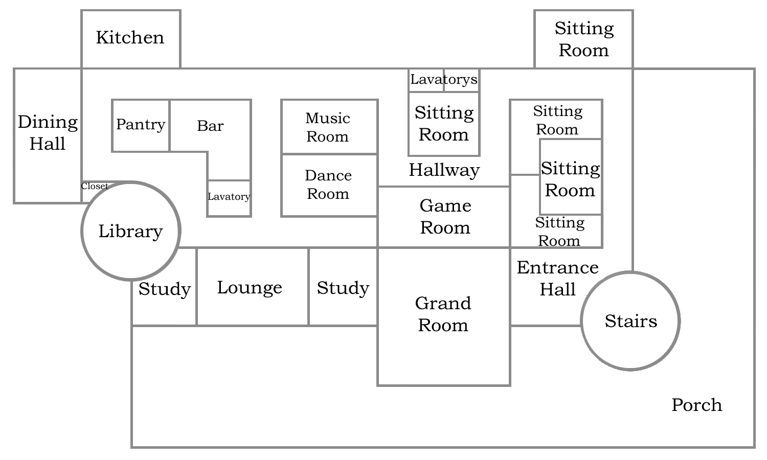 Floor Plans for the main or first floor of BFC Stronghold.